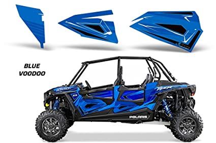 Polaris 4-Door RZR 1000 Lower-Door Insert Graphics - OEM 2015 Voodoo Blue