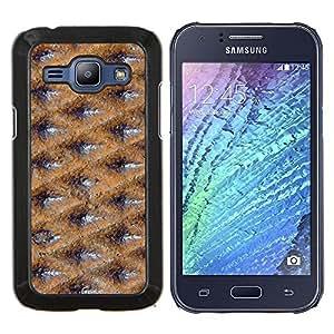 YiPhone /// Prima de resorte delgada de la cubierta del caso de Shell Armor - Superficie Textura del modelo del papel pintado - Samsung Galaxy J1 J100