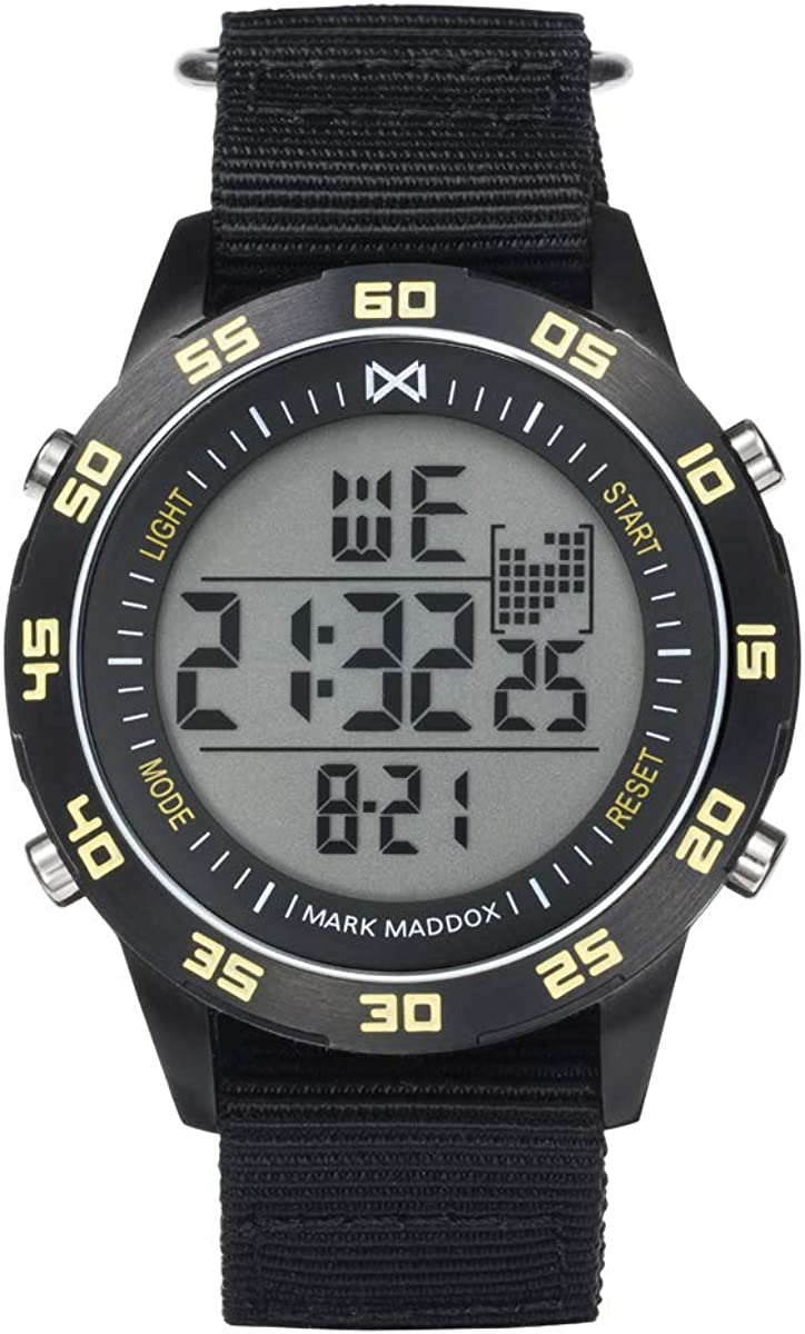 MARK MADDOX - Digital Acero IP Negro Correa Sr Mm - HC1005-56