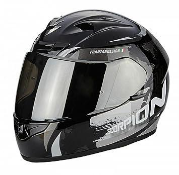 SCORPION Exo 710 Cerberus negro/plata casco de moto