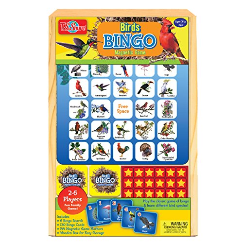 (T.S. Shure Bird Bingo Travel Game in a Wood Box Wooden)