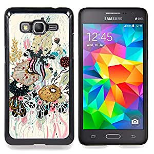 Planetar ( Feuilles Arbre Vert Rouge Stripes ) Samsung Galaxy Grand Prime SM-G530F G530FZ G530Y G530H G530FZ/DS Fundas Cover Cubre Hard Case Cover