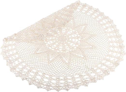 Tablecloth Vintage Beige de Ganchillo Manteles Tapetes para Mesa a ...