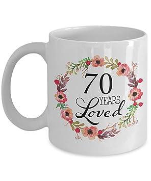 Amazon.com: Regalo de 70 cumpleaños para mujer, regalo para ...