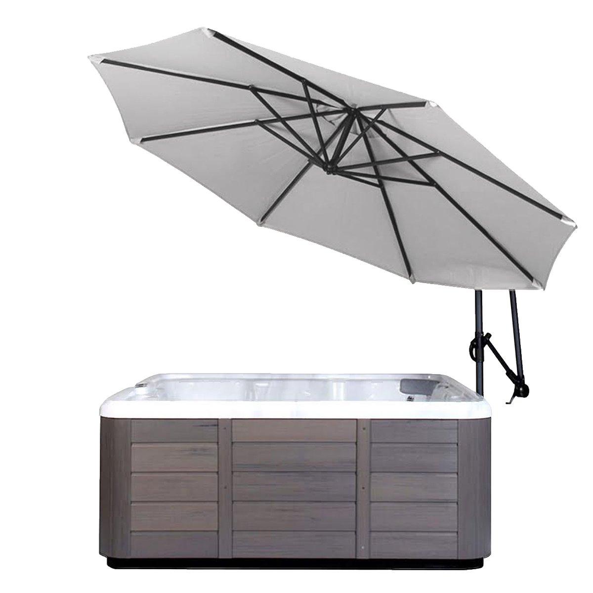 Cover Valet Spa Side Umbrella, Light Ash