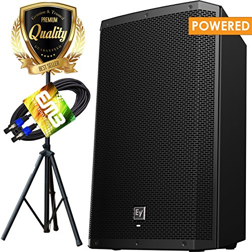 Electro-Voice ZLX-15P 15 in. 1000w Powered Loudspeaker with Pro Speaker Stand and EMB Speakon to Speakon Cable