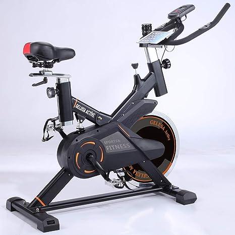 Gelusa Bicicleta de Spinning Ciclo Indoor 20 Kilos de Disco Active ...