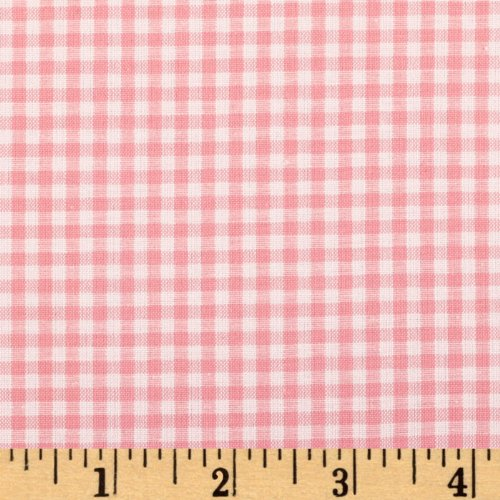 Robert Kaufman Kaufman 1/8in Carolina Gingham Pink Fabric by The Yard