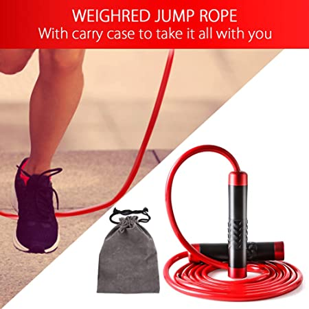 New Teeggi Jump Rope Workout Skipping Rope for Exercise Tangle-Free with Ball..
