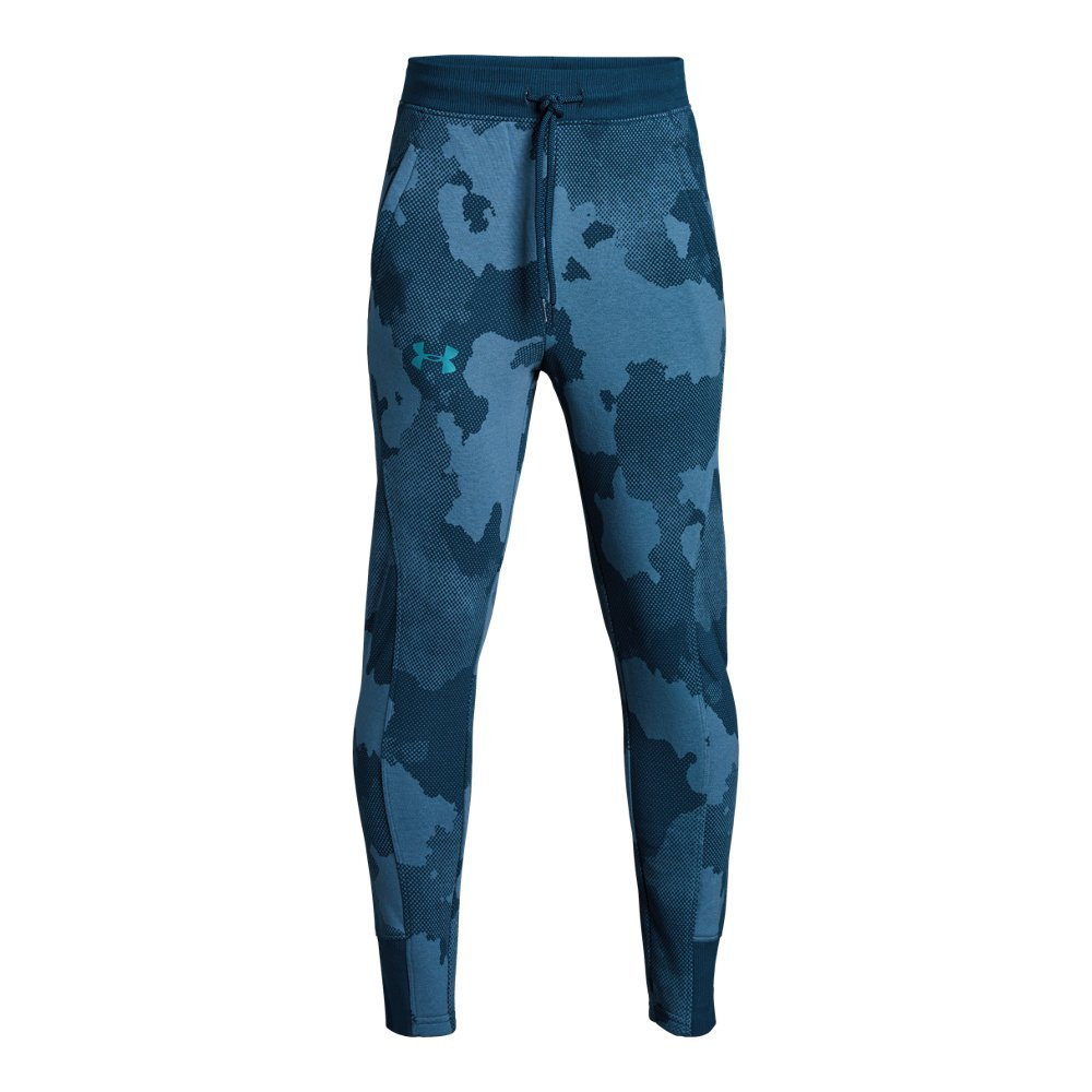 Under Armour Boys Rival Printed Jogger, Techno Teal (489)/Deceit, Youth X-Large by Under Armour