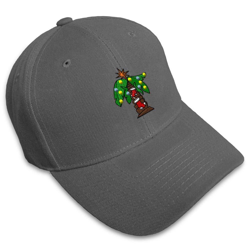 Custom Baseball Cap Christmas Palm Tree Embroidery Dad Hats for Men /& Women