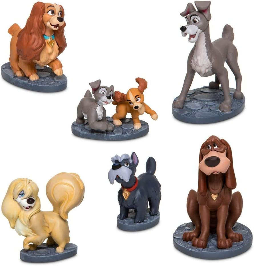 Amazon Com Disney Lady And The Tramp Figurine Play Set Toys Games