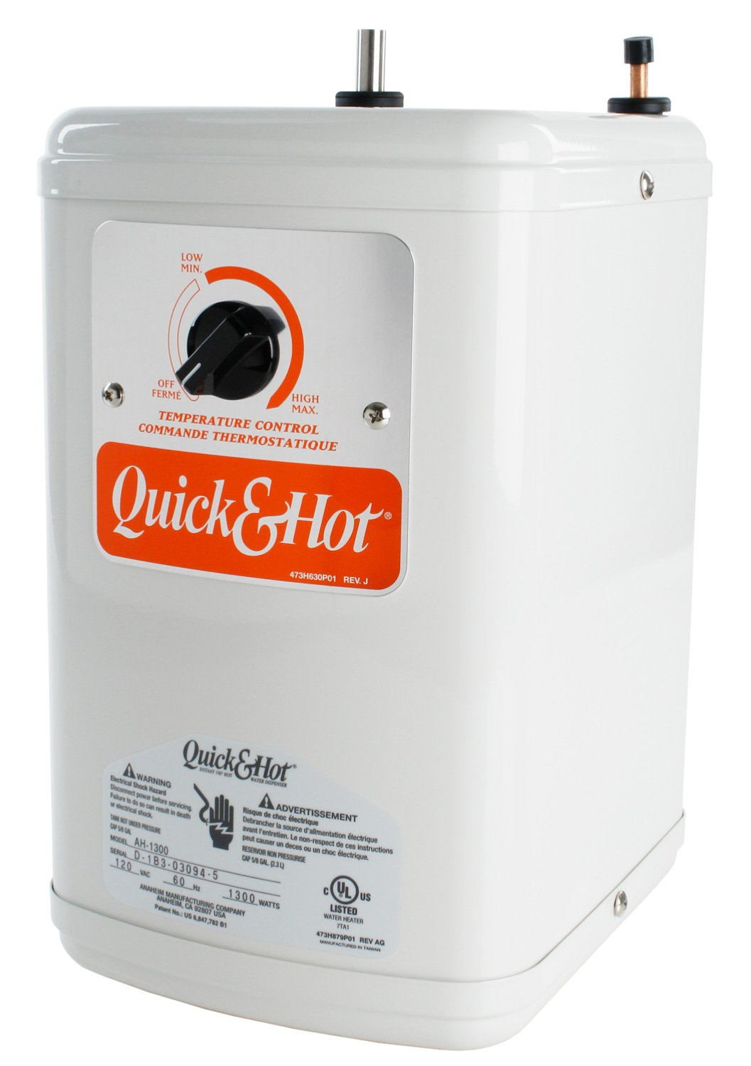 Anaheim AH-1300 Quick and Hot Instant Hot Water Tank - Hot Water ...