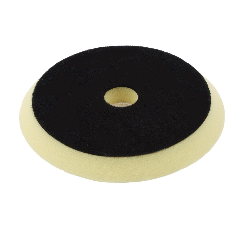 L_shop Auto Detailing Buffing Cutting Pad Natural Sheepskin Wool Polishing Pad, White and black, 0.79'*Dia 5.91' 0.79*Dia 5.91