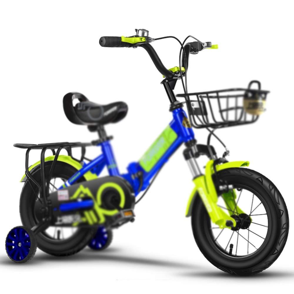 promociones emocionantes azul Axdwfd Infantiles Bicicletas Bicicleta for niños con Ruedas de de de Entrenamiento, Bicicleta de 12 14 16 18 Pulgadas for niñas y niños, Amortiguador con Amortiguador de choques Plegable 2-13 años 12in  venta con descuento