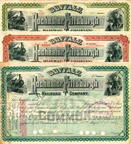 Buffalo, Rochester & Pittsburgh Railway Set of 3
