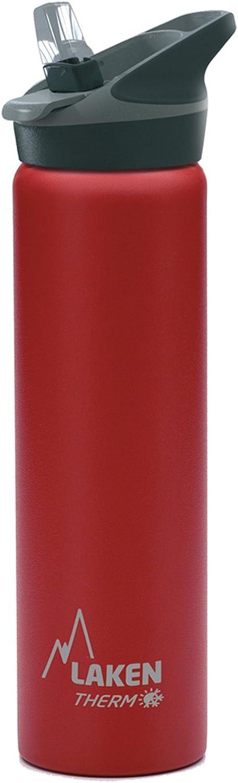 Laken Jannu Botella Térmica Acero Inoxidable 18/8 y Doble Pared de Vacío, Unisex adulto, Rojo, 750 ml