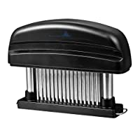Lasting Charm Meat Tenderizer - Professional Commercial Quality Kitchen Tool with 48 Stainless Steel Razor-sharp Blades