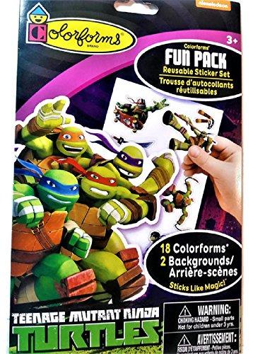 Teenage Mutant Ninja Turtles Colorforms Fun Pack Reusable Sticker Set, 18 Colorforms 2 Backgrounds]()