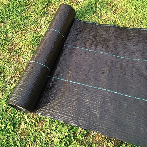 Agfabric All Purpose Folded Landscape 5x12ft Heavy PP Woven Weed Barrier for Raised Bed,Soil Erosion Control and UV Resistant
