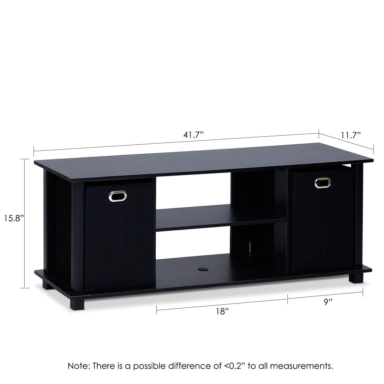 Furinno 13054BK/BK Econ Entertainment Center with Storage Bins, Black by Furinno (Image #2)