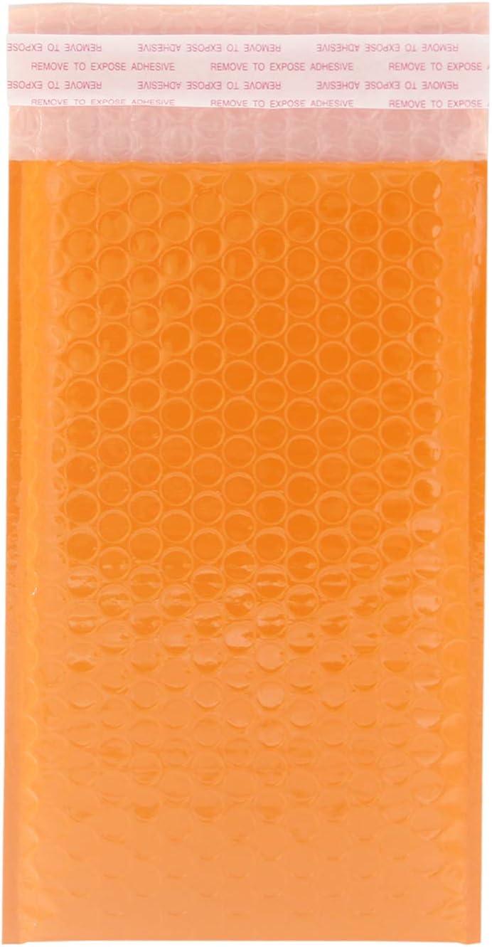 130 x 210 mm Bubble mailers Yomuse 50 St/ück Luftpolsterversandtaschen Luftpolstertaschen B//2 in Orange