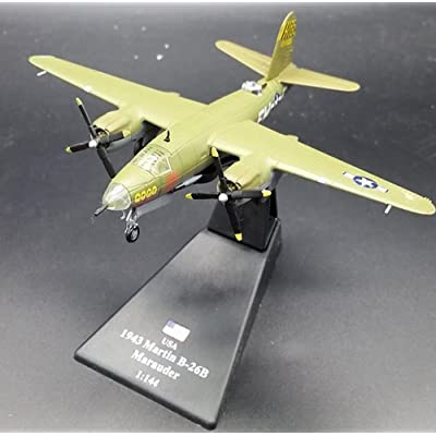 FLOZ WWII USA 1943 Martin B-26B Marauder Aircraft 1:144 die cast Plane Pre-Assembled Model Vehicle: Toys & Games