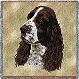 Pure Country 1134-LS Springer Spaniel Pet Blanket, Canine on Beige Background, 54 by 54-Inch