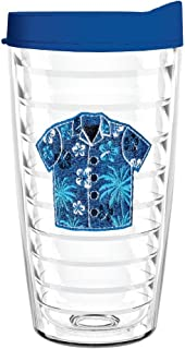 product image for Smile Drinkware USA-HAWAIIAN SHIRT 16oz Tritan Insulated Tumbler With Lid and Straw