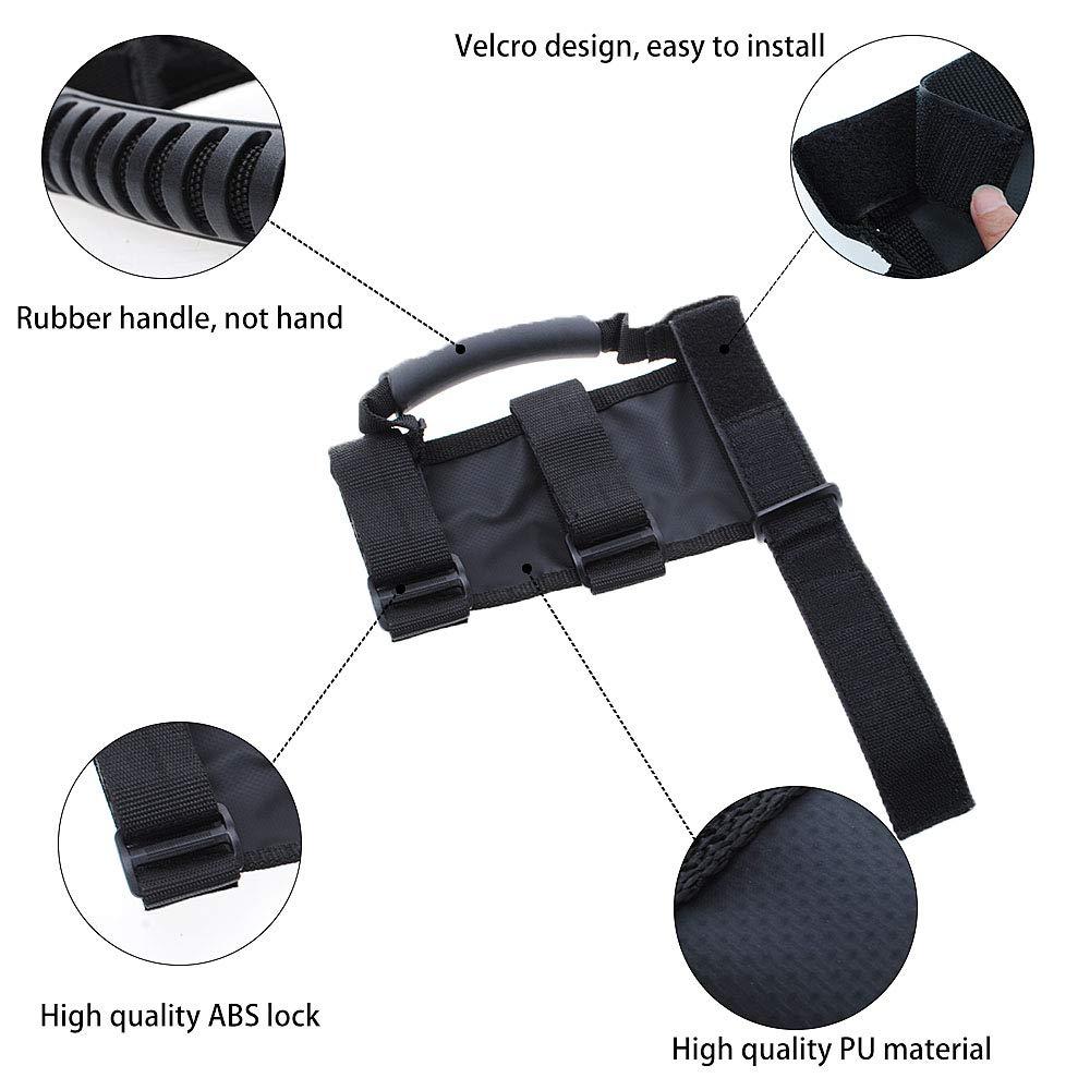 Black JeCar Roll Bar Grab Handles Grip Handle for Jeep Wrangler CJ YJ TJ JK JK JL JLU JT Sports Sahara Freedom Rubicon /& Unlimited 1955-2020 4Pcs