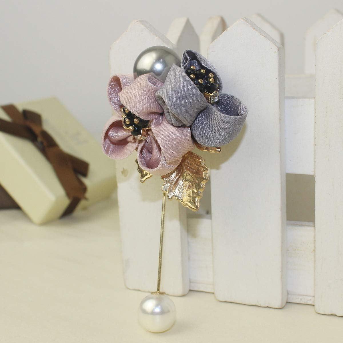 Mecool /Él/égant Femmes Tissu Broches Fleur De Mariage Partie De Mariage V/êtements D/écor Revers Broche Boutonni/ère