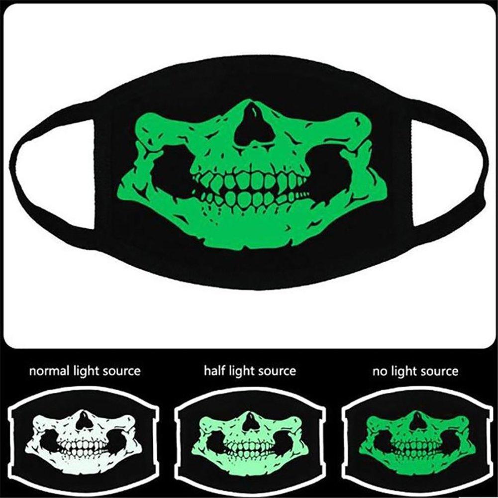 Trenton Halloween Skull Pattern Cool Luminous Unisex Cotton Blend Anti Dust Face Mouth Mask for Man Woman by TRENTON (Image #6)