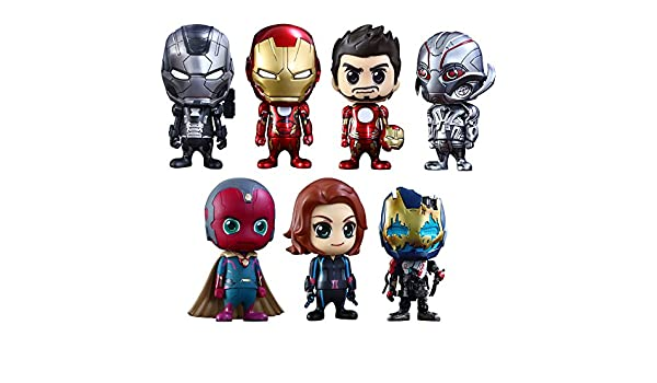 Vengadores La Era de Ultrón Pack de 7 Minifiguras Cosbaby (S) Serie 2 9 cm: Amazon.es: Juguetes y juegos