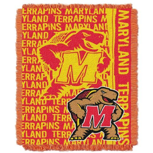 NCAA Maryland Terrapins 48 x 60-Inch Double Play Jacquard Triple Woven Throw by Northwest