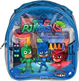 PJ Masks Coloring and Activity Backpack Childrens-Drawing-Pads-and-Books, Colors may vary (Red/Blue) (Premium pack)