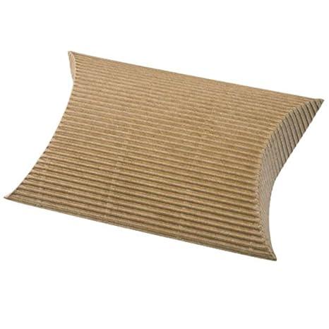 10 x cajas de cartón corrugado de papel Kraft ebean del favor de la boda fiesta