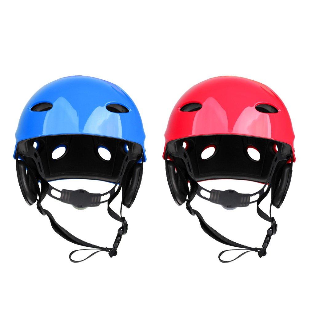 MonkeyJack 2 Pieces Safety Helmet Hard Hat for Rescue Rafting Kayaking Wakeboard Waterskiing Surfing SUP 55-61cm