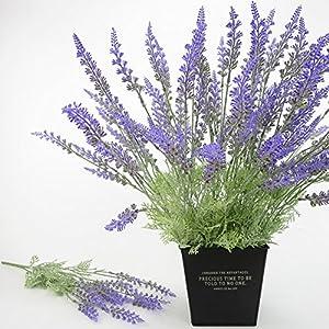 narutosak Artificial Flowers 1 Bouquet 15 Heads Lavender Simulation Flower Home Wedding Decoration 44