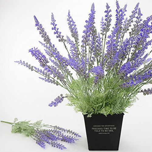 narutosak Artificial Flowers 1 Bouquet 15 Heads Lavender Simulation Flower Home Wedding Decoration