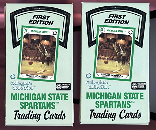 Michigan State Spartans Card Box - 1989 Collegiate Collection Michigan State Spartans Set 84 Pack Box Basketball