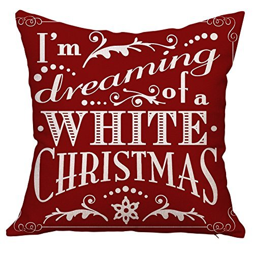 Mooncute Christmas Pillows, Christmas Gift 2018 Happy New Year Merry Christmas Letters Linen Cushion Cover Fabric Pillow Case Cushion Decorative for Couch Sofa Pillowcase 18 x 18 Inch - Pattern 16 (Best Wishes For Merry Christmas And New Year)