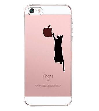 Qissy Carcasa iPhone SE 5 5s, TPU Funda Cubierta de Ultra Delgado impresión de Silicona Carcasa Trasera para iPhone 5 5s Transparente