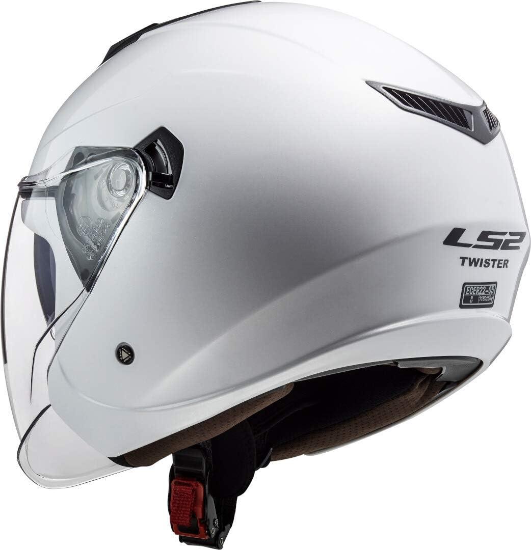 talla L LS2 Casco de moto OF573 Twister II Single Mono blanco
