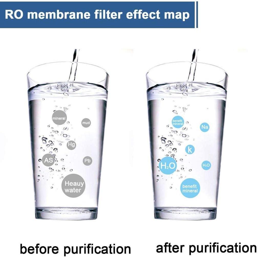RO Eau Domestique Purificateur Compatible Filtre de Remplacement Convient Accueil Purificateur deau par Osmose Inverse,400GPD MONA@FILTER 3013-400GPD RO Membrane dosmose Inverse