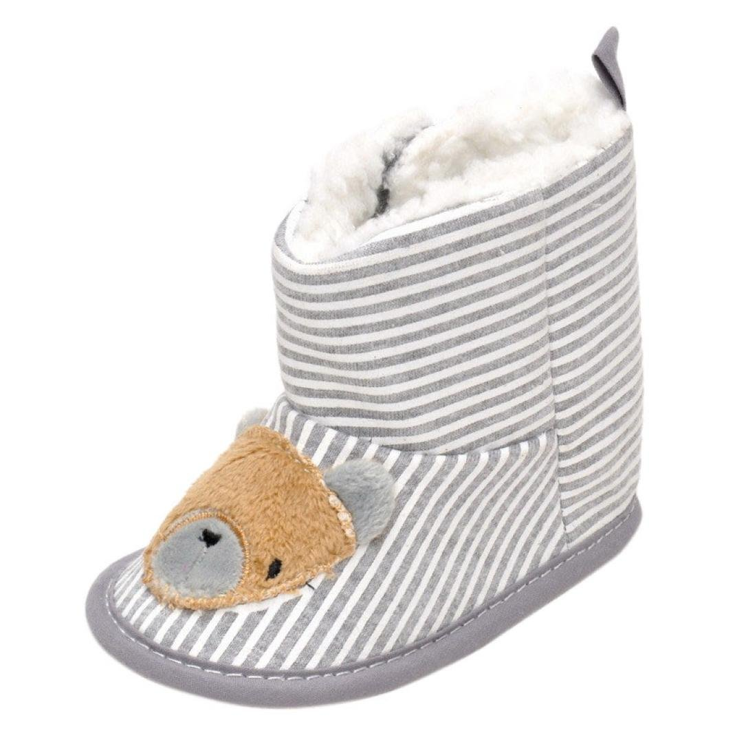 Voberry Baby Girls Boys Infant Toddler Cotton Winter Fur Shoes Snow Boots Warm