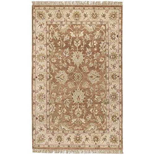 Surya Estate EST-10503 Classic Hand Knotted 100% Hand Spun New Zealand Wool Hot Cocoa 2' x 3' Accent Rug