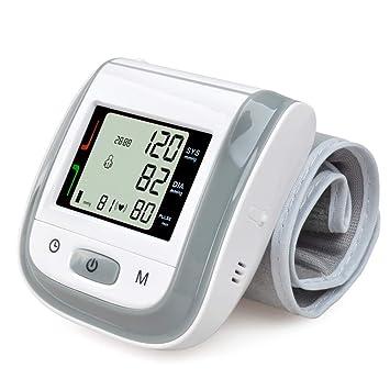 Huapa Tensiómetro de muñeca,Tensiómetro de brazo digital con detección del detección de movimiento corporal y de pulso arrítmico, validado clínicamente ...