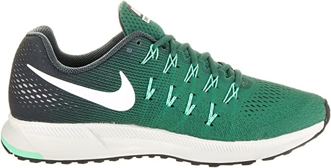 Amazon.com | Nike Men's Air Zoom Pegasus 33, Green Stone ...