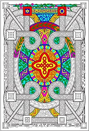 Amazon.com: Geometric - 22x32.5 Giant Line Art Coloring Poster ...