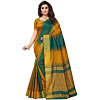 Fabwomen Silk Saree with Blouse Piece (Fab1841_Green_Free Size)